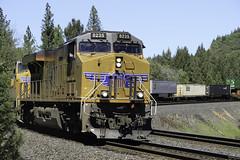 Westbound UPS train (trifeman) Tags: sierra donner sierranevada placercounty 2017 april spring california placer canon 7d canon7dmarkii up unionpacific railroad rail train freight