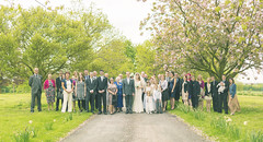 20130520_F0002: The big group photo (wfxue) Tags: flowers trees wedding people tree love guests children groom bride dress heart blossom group event groupphoto
