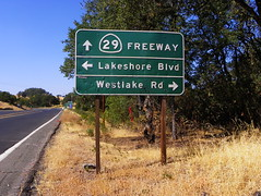 Button Copy Sign (kevin42135) Tags: california road sign nice highway boulevard hwy westlake freeway button lakeshore arrow 29 lucerne copy blvd rd reflector cutoff