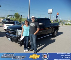 Crossroads Chevrolet Cadillac would like to say Congratulations to Justin Isaacs on the 2011 Chevrolet Silverado 1500 (Crossroads Chevrolet Cadillac) Tags: new chevrolet car sedan truck wagon happy pickup cadillac mo used vehicles chevy missouri bday van minivan suv crossroads luxury coupe dealership caddy joplin shoutouts hatchback dealer customers 4dr 2dr preowned