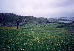 Cemetery, North end of Great Bernera, Lewis (1996) (Duncan+Gladys) Tags: uk scotland rossandcromarty isleofgreatbernera