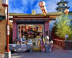 Entrepreneur (Russ Allison Loar) Tags: shop souvenirs losangeles chinatown buddha chinese beijing buddhism tourist gifts zen southerncalifornia tao incense giftshop trinkets shopkeeper entrepreneur