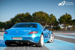 Dolphin (Raphal Belly Photography) Tags: blue cars car electric racetrack race french ed paul photography eos mercedes drive track driving photographie south performance du bleu belly exotic chrome le 7d passion shooting provence raphael circuit rb sls ricard amg bleue supercars rapha
