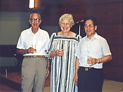 Mary Ellen & Walter with a colleague, Kyoto, Japan 1990 (ali eminov) Tags: walter japan kyoto analysts mathematics professors maryellen mathematicians rudins walterrudin congresses maryellenrudin topologists internationalcongressofmathematicians