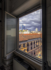 She Came In Through the Bathroom Window (Fil.ippo) Tags: milan window cityscape milano sigma diamond finestra 1020 hdr filippo skycraper fatebenefratelli diamantone filippobianchi