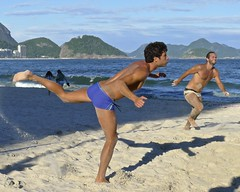 Footvolley at Copacabana beach (alobos Life) Tags: blue friends boy brazil amigos cute beach boys water beautiful sport rio azul brasil ball de fun outdoors nice sand funny janeiro candid playa guys arena have brazilian speedo futbol garotos enjoying sunga divertido brasileo footvolley