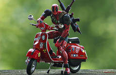 Ridiculously Manly (nobudius_5192) Tags: vespa scooter figure legends marvel deadpool series6