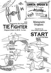 TIE Fighter origami diagram 1 (Matayado-titi) Tags: starwars origami fighter space tie diagram imperial vehicle spaceship starship advanced interceptor tiefighter starfighter sugamata matayado