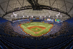 Top of the Trop (Silver1SWA (Ryan Pastorino)) Tags: canon tampa baseball tampabay stadium fisheye sfgiants giants rays canon5dmarkii
