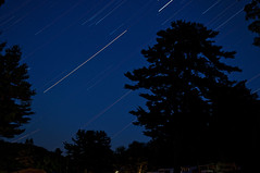 365 Project - 009 - July 15, 2013 (crichgraphics) Tags: trees sky nature night project stars trails clear astronomy 365 startrails project365 365project project3659 project365071513 project36515july13