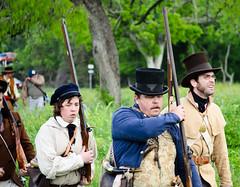 27th Annual Goliad Massacre (Tejas Cowboy) Tags: portrait horse river mexico la costume san texas massacre candid tx bahia revolution annual antonio reenactment presidio texan 27th goliad 1836 texican