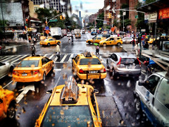 iPhone - NYC taxis and traffic (danilew) Tags: pictures nyc newyorkcity travel usa ny newyork apple glass rain yellow architecture highresolution unitedstates photos cab taxi structures images taxis architectural vehicles photographs trips empirestate cabs rainfall journeys mopho taxicab taxicabs buildingmaterials thebigapple travelphotography rainshower bustravel landtransportation buildingmaterial mobilephotography constructionmaterial mobilephonephotography iphonephotography architecturalstructures cameraapp iphoneography danilew wwwdanilewcom procameraapp cameraplusapp iphone4s snapseedapp scenicbustour iphoneandipadapps motorbustravel