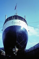64 052 040764 Falmouth Queen Elizabeth dry Dock - Clan Matheson (The KDH archive) Tags: ship falmouth 1964 motorvessel clanmatheson