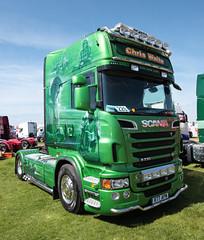 Chris Waite Scania R760 V8 truck Truckfest Peterborough 2013 (davidseall) Tags: uk chris truck transport large goods waite lorry vehicle heavy peterborough cambridgeshire v8 scania haulage airbrushed apm truckfest hgv lgv 2013 r77 r760 r77apm