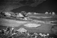 villages in the mountains are very far away from out society (Mario Gerth Photography) Tags: mountains walking blackwhite berge bible ethiopia epic biblical reise lalibela thiopien jorney simien hochland monocrom laibela blackwhi wwwmariogerthde gebirgswste
