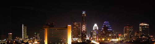 Austin Texas Downtown Skyline at Night