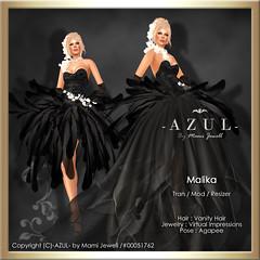 (IMAGE)Malika (c)-AZUL-byMamiJewell (mami_jewell) Tags: azul evening dress formal feather gown avenue flexi malika vanityhair agapee virtualimpressions