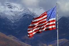 VETERANS DAY 2013 (arbyreed) Tags: snow misty clouds cloudy starsandstripes usflag veteransday oldglory mounttimpanogos falg americanfalg arbyreed