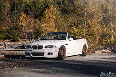 BMW E46 M3 (Dylan King Photography) Tags: white canada bronze vancouver gold nikon bc cab wheels 7 columbia vert canadian copper bmw series british m3 rims lowered rolling slammed vancity e46 convertable softtop d90 style95