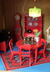 Leksand... (*blythe-berlin*) Tags: orange vintage göteborg toys dolls furniture gothenburg 70s möbel byebye spielzeug dollhouse caco jahre puppenhaus lundby 70ziger biegepuppen doll´shouse