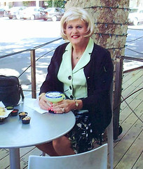 Margarita Time (bobbievnc) Tags: black tv legs cd skirt tgirl short blonde pantyhose crossdresser shemale tanpantyhose