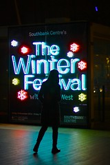 The Winter Festival (Explore) (Ayano0710) Tags: light england people color london silhouette night nightshot streetphotography southbank nightshoot canonef50mmf14 canoneos7d