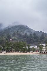 Rain clouds forming over a mountain on Miyajima (Ehren Mannebach) Tags: japan hiroshima miyajima mistymountain