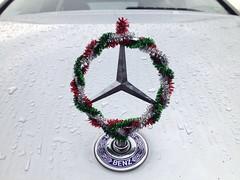 #wreath (Gorytunes) Tags: holiday mercedes benz photoblog wreath ornament hood w203 4matic c280 gorytunes