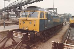 47419 14th Nov 1985 London Kings Cross (Ian Sharman 1963) Tags: nov london station train cross diesel engine loco class kings 14th 1985 duff 47 47419