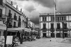 Ronda (Satirenoir) Tags: plaza storm spain ronda
