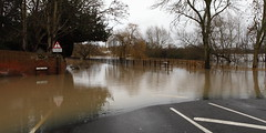 Road Liable to Flooding (717Images) Tags: road christmas england rain weather sign warning river flooding closed flood police surrey cobham burst mole christmaseve banks overflow flooded