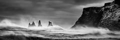 Raging (Sandra Herber) Tags: winter storm iceland vik reynisfjall reynisdrangarstacks