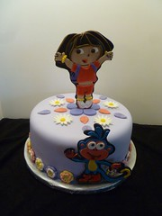 Dora and Boots cake by Yvonne, Twin Cities, MN, www.birthdaycakes4free.com