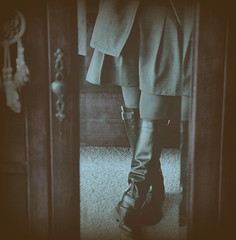 """Unbelievers"" (memeo1) Tags: selfportrait love self boot leg warmth skirt sp dreams emotions dreamcatcher"