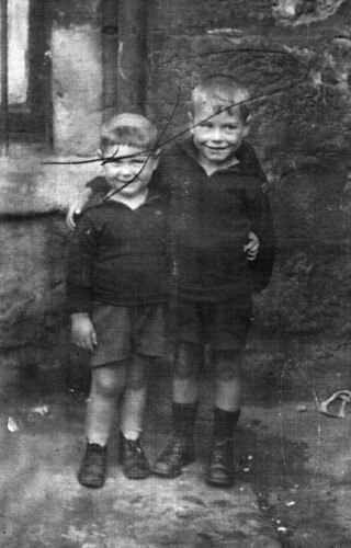 Willie and Joseph Raeburn Gallowgate 1931