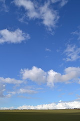 Nice Walk (Beachcombing Bumpkin) Tags: blue trees sky white green clouds scotland farm ciel