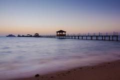 Hurghada sunrise (Kuba Abramowicz) Tags: africa blue sea sun color colour beach water colors sunrise dawn coast pier nikon colorful long exposure colours horizon egypt clear hour egyptian afrika bluehour nikkor hurghada d600 2470 abramowicz