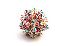 Almandine (Akizhi) Tags: origami kusudama modular paper art fold craft