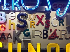 The American Sign Museum (jericl cat) Tags: schperos letters wall timeline history american sign museum cincinnati ohio 2016 neon signs collection exhibit