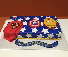 Captain America Sheet Cake (devbydylan) Tags: cake birthday superhero fondant