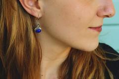 blue (yleniamachine) Tags: blonde blue earing