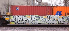 (Chicago City Limits) Tags: freight train graffiti benching art artwork trains railroad railroading railroaders bench graff rails rail piece peice tag tagging tagger taggers spray paint artistic double stacks fr8 intermodal intermodel ttx flat flats flatcar flatcars freights tracks chicago illinous illinois ill dope moving motion style painting deval iillinois chitown chi town desplaines desplains des plaines plains spraycan rusto union pacific junction boondocks versa buche