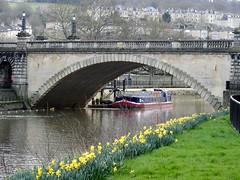 North Parade Bridge, River Avon, Bath 24 February 2017 (Cold War Warrior) Tags: bridge riveravon bath boat daffodil