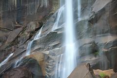 (Tom Roadcap) Tags: long exposure yosemite california rock rainbow mist golden hour vernall falls vernal