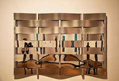 Multi-selfie (studioferullo) Tags: abstract art beauty bright colorful colors contrast design detail edge light metal minimalism perspective pattern pretty scene study texture tone world arizona phoenix museum mirror reflection lines curve silver brown blue white