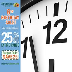 It's the LAST DAY to Save 25% OFF McArthur Skincare (mcarthurskincare) Tags: mcarthurskincare mcarthursale pawpaw papaya skincare onsale salenowon sale bargains