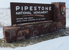 Pipestone National Monument Sign (Pipestone, Minnesota) (courthouselover) Tags: minnesota mn pipestonecounty pipestonenationalmonument nationalmonuments nationalparksystem nationalparksigns northamerica unitedstates us