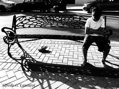 El enfado - Annoyed (Alfredo G. Lanzarot) Tags: bw street enfadado banco upset bench kid annoyed enfado