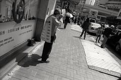 human billboard... (David Davidoff) Tags: people street life advertising humanbillboard oldman elderly shadow hardlife