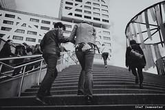 Going Up (stef demeester (catching up)) Tags: jaarbeursplein stadhuis utrecht x70 fujifilmx70 street stairs stefdemeester bw monochrome blackandwhite